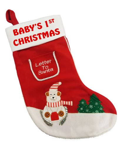 Baby's 1st Christmas Letter To Santa Xmas Stocking